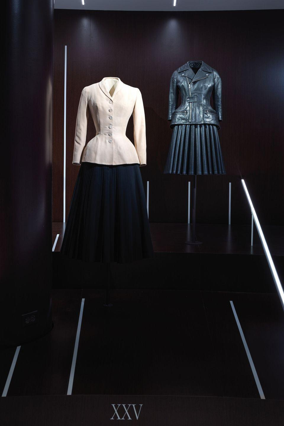 "<p>Left: Christian Dior 1947 ""Bar suit."" Right: Junya Watanabe 2011 ensemble. </p>"