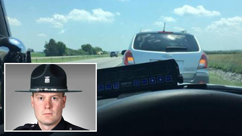 IN  state trooper's tweet about state's 'slowpoke law' goes viral