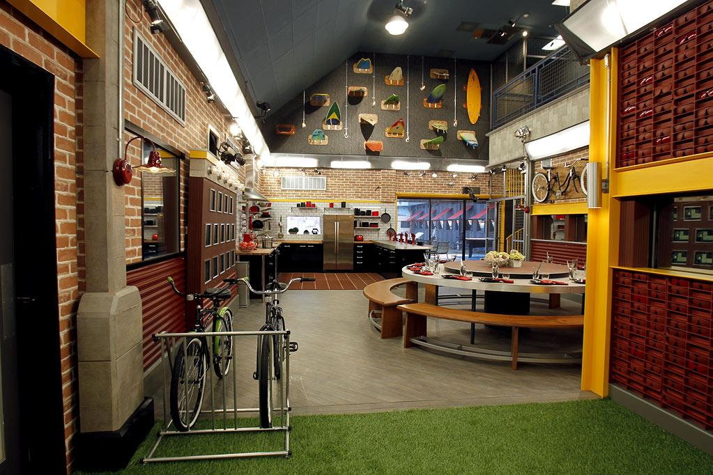 """Welcome to the """"<a href=""""/big-brother-13/show/46767"""">Big Brother</a>"""" Season 13 house! With pops of red and yellow, this season's pad is bright, bold, and a lot more festive than <a href=""""http://tv.yahoo.com/slideshow/584/photos/1"""" rel=""""nofollow"""">last year's</a>. Notice the beach-inspired accessories, the front door (where houseguests will enter and exit only once), and the massive cameras mounted on the walls. Remember, Big Brother is always watching!"""