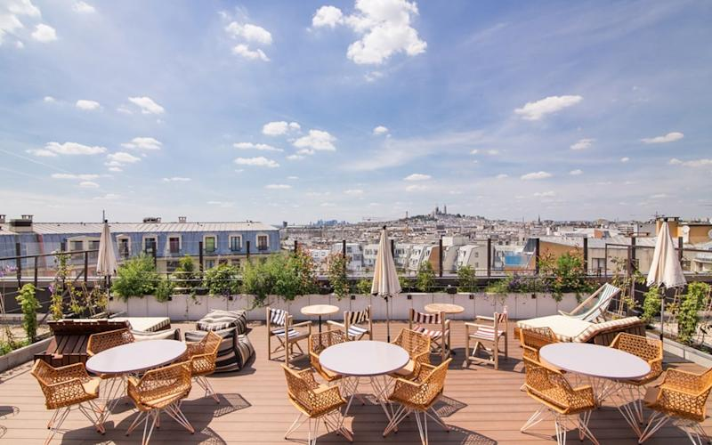 Generator Paris Hostel boasts an open-air rooftop bar.