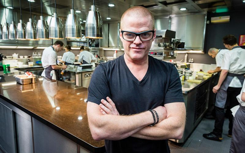Heston Blumenthal who works closely with Prof Spence  - Credit: Andrew Crowley Telegraph