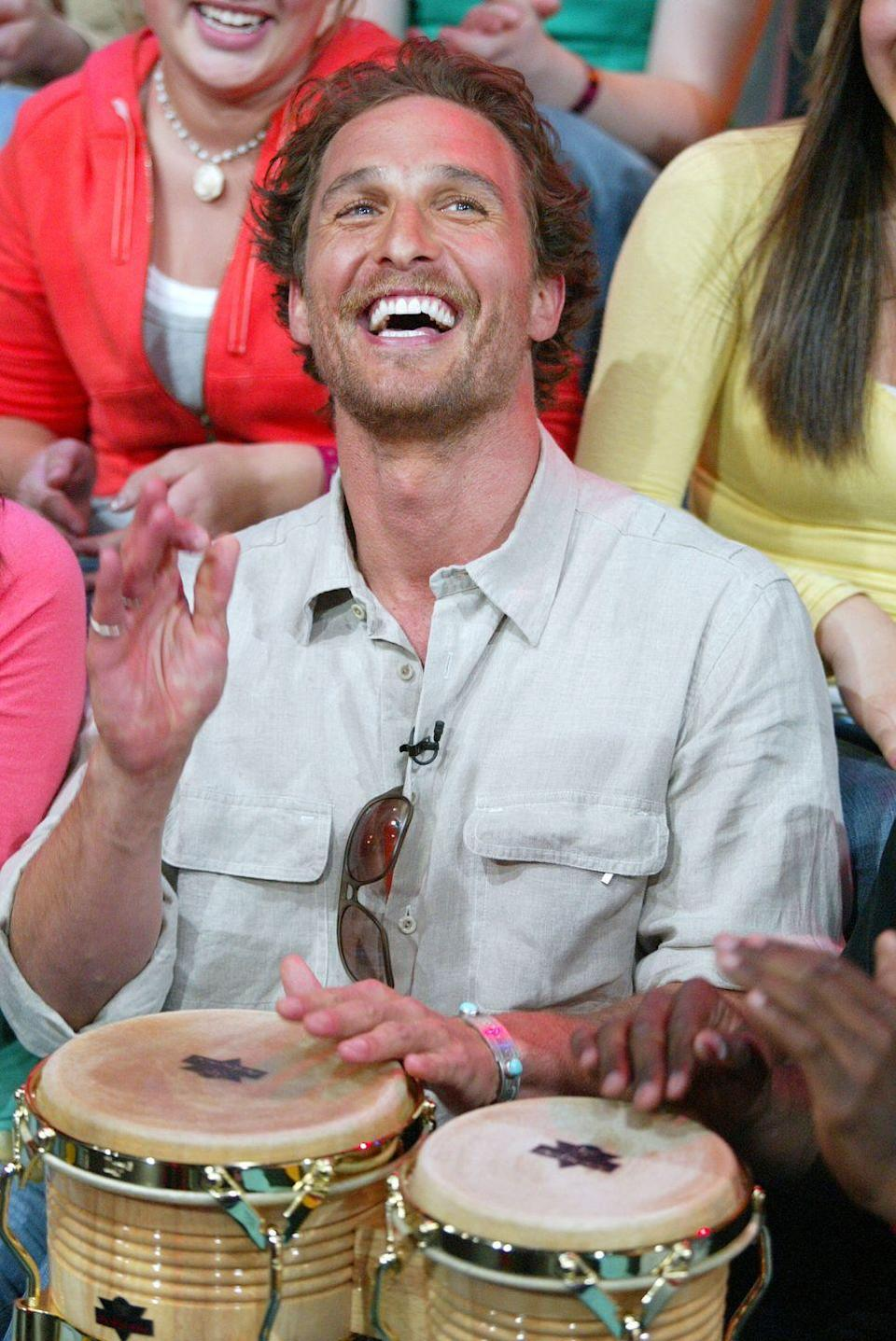 <p>Like, I want to say I'm surprised that Matthew McConaughey showed up on <em>TRL</em> and started playing drums, but if I think about it for a moment I am simply not. </p>