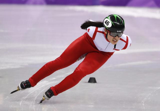 <p>Gold:$1,000,000 USD<br>Silver:$500,000 USD<br>Bronze:$250,000 USD<br>Singapore's first and only Winter Olympian at the Games, Cheyenne Goh, competes at the short track 1500m speed skating event. (REUTERS/Damir Sagolj) </p>