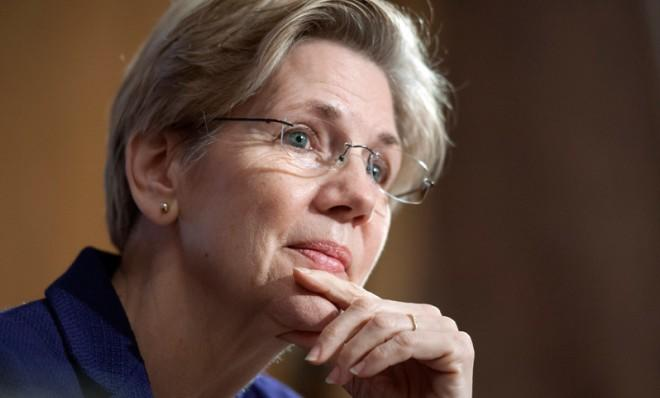Sen. Elizabeth Warren says that if the minimum wage had grown along with worker productivity, we'd all be making at least $22 an hour today.