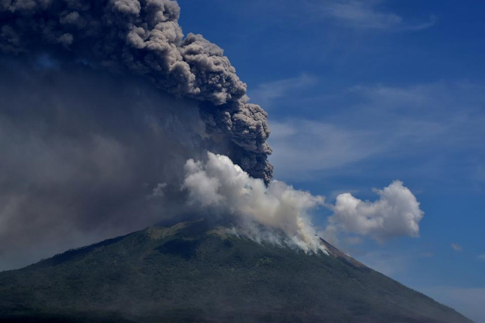 <p>The volcano sits about 1,600 miles east of Indonesian capital Jakarta</p>Via Reuters