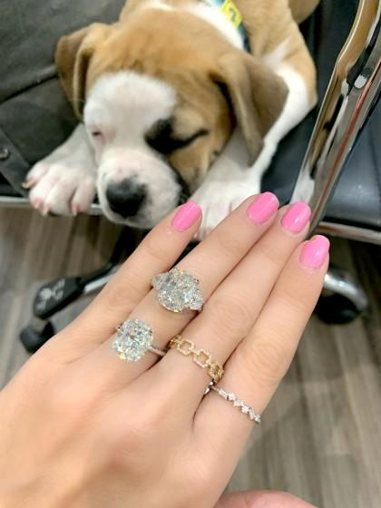 "Miss Diamond Ring founder Michelle Demaree has been regularly selling hefty engagement rings despite the COVID-19 pandemic. <span class=""copyright"">(Michelle Demaree)</span>"