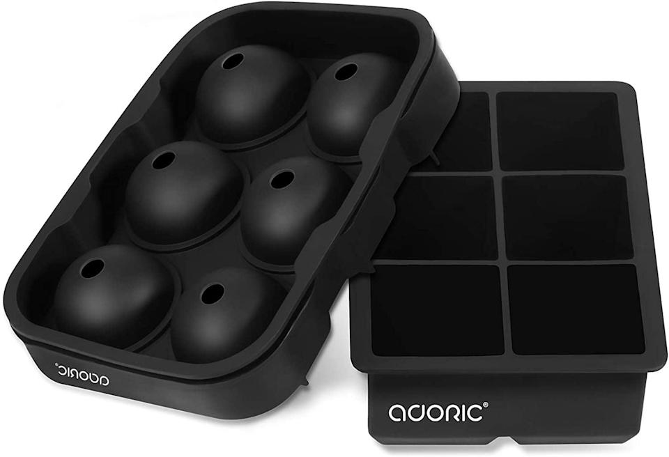 <p>Create artisanal at home ice infused with herbs, fruit, and other flavors with the <span>Adoric Silicone Ice Cube Trays Set of 2 </span> ($13). It comes with sphere molds and a square molds. </p>