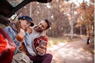 <p>A short drive can make you both feel brand new. Try an outdoor destination that you've never seen. And if you have to grab lunch, check out the new city for a new experience. </p>