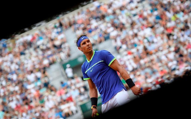 Rafael Nadal takes on Robin Haase in the second round of the French Open today - AFP
