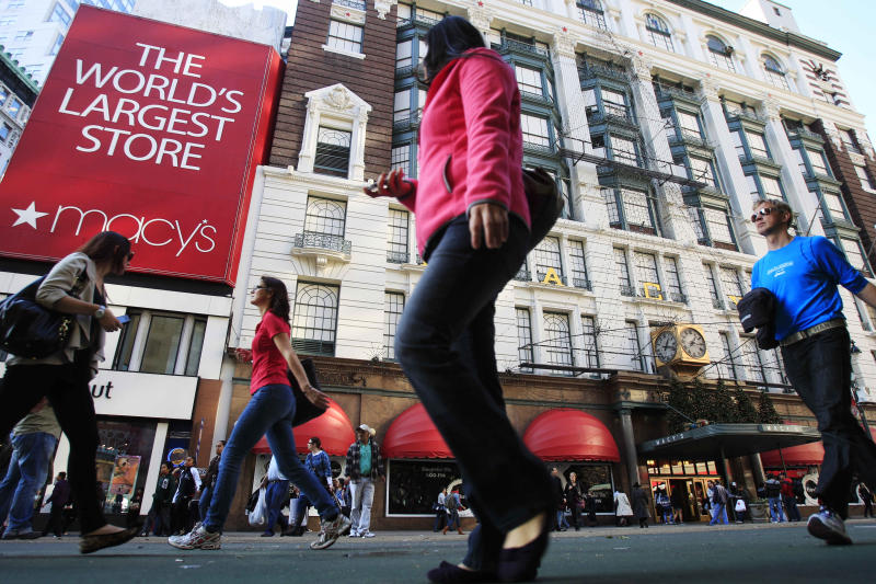 Macy's sales slip, says shoppers wary of spending