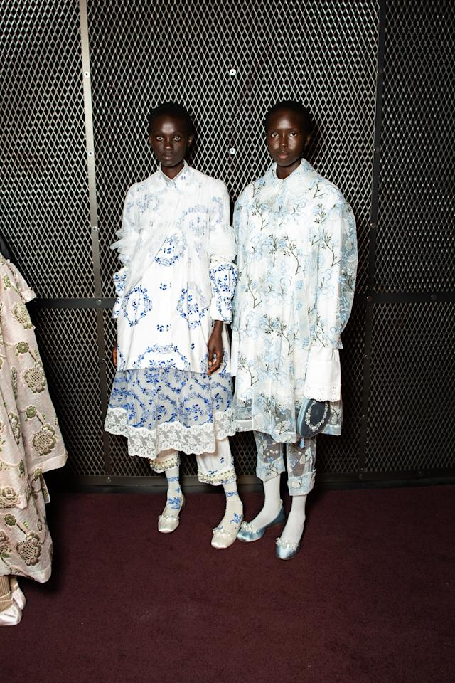 Backstage at the Simone Rocha SS20 show during London Fashion Week on Sunday, September 15th, 2019. Photograph by Serichai Traipoom for W Magazine.