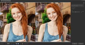 AI Portrait Mode automatically analyzes an image and blurs the background, keeping the focus on your subject.