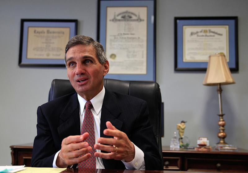 Orleans Parish District Attorney Leon Cannizzaro, pictured here on April 6, 2015, now faces a lawsuit from the ACLU and Civil Rights Corps. (Ted Jackson/NOLAcom)