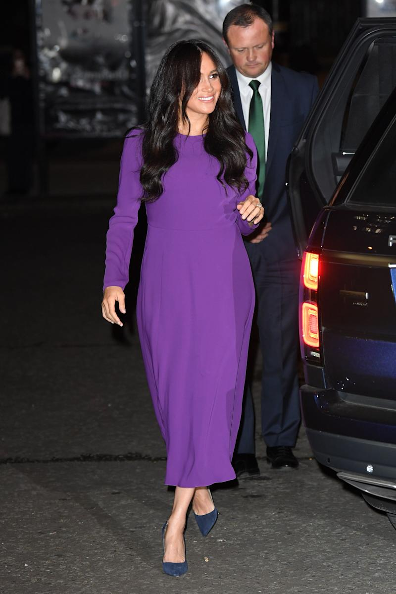 It's obviously sold out now, but when Markle wore this $138 Aritzia dress last month, everyone (rightfully) freaked out. (Actually, it was on sale at the time for $50.)