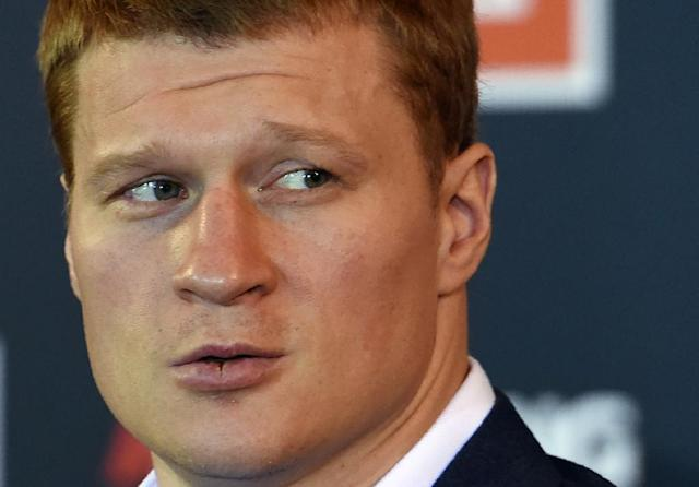 Russia's heavyweight boxer Alexander Povetkin tested positive for ostarine, an anabolic steroid-like drug, in December 2016 (AFP Photo/VASILY MAXIMOV )