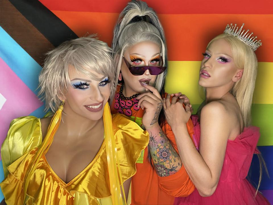 Slav 4 U, a drag queen trio whose politicking performances as as educational as they are raunchy. (Supplied)