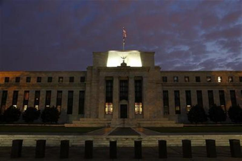 General view of the U.S. Federal Reserve building as the morning sky breaks over Washington