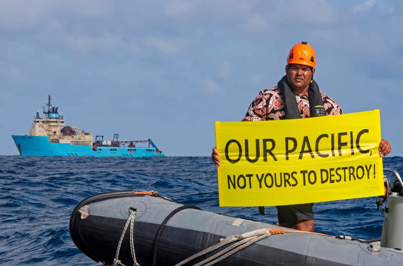 Protest against deep sea mining in the Pacific