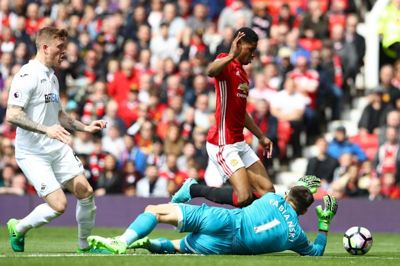 Rashford took a tumble to win United a cheap penalty (Getty)