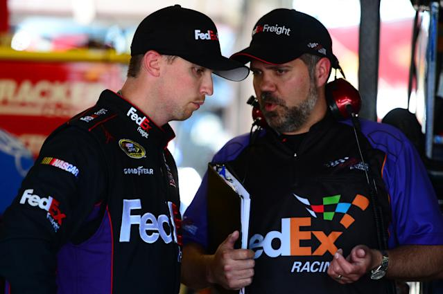 Denny Hamlin penalized 75 points, crew chief Darian Grubb suspended six races