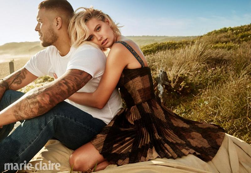 The model recently starred in a Christian Dior campaign for Valentines Day with her husband Buddy Franklin. Source: Marie Claire Australia