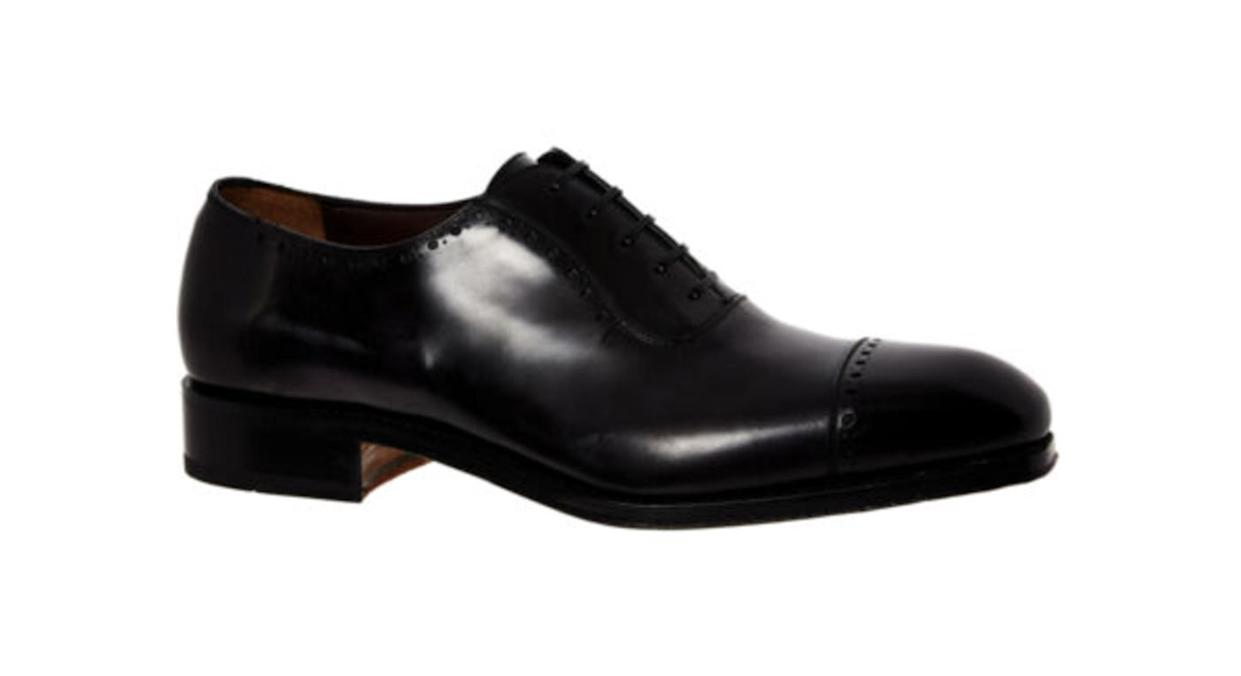 Black Brawell Leather Oxford Shoes