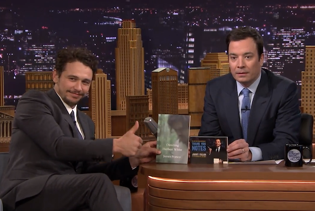 James Franco, Jimmy Fallon Compare Publishing Credentials on 'The Tonight Show' (Video)