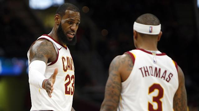 LeBron James on Isaiah Thomas's Time With Cavs: Injury Left Him 'Playing Behind the Eight Ball'