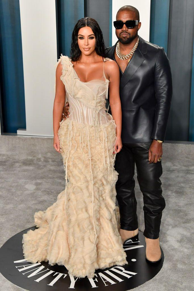 """<p>The couple<a href=""""https://www.elle.com/uk/fashion/celebrity-style/g30847701/oscars-after-party-best-dressed/"""" rel=""""nofollow noopener"""" target=""""_blank"""" data-ylk=""""slk:attended the star-studded Vanity Fair post-Oscars party"""" class=""""link rapid-noclick-resp""""> attended the star-studded Vanity Fair post-Oscars party </a>following the ceremony, with Kim wearing vintage Alexander McQueen for the event.</p>"""