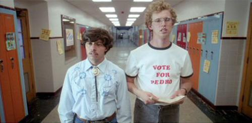 Jon Heder and Efren Ramirez in the indie classic, 'Napoleon Dynamite'.