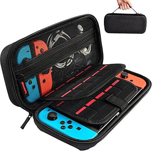 Hestia Goods Switch Carrying Case for Nintendo Switch, with 20 Games Cartridges Protective Hard Shell Travel Carrying Case Pouch for Nintendo Switch Console & Accessories, Black (Amazon / Amazon)