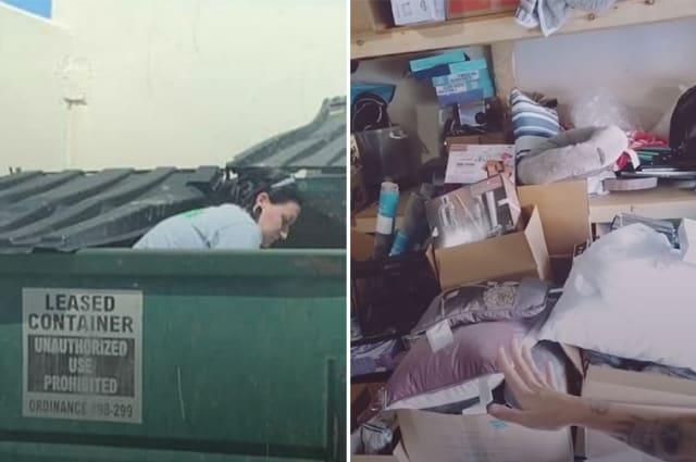Dumpster diver mum earns £2K a month by selling discarded products she finds in bins