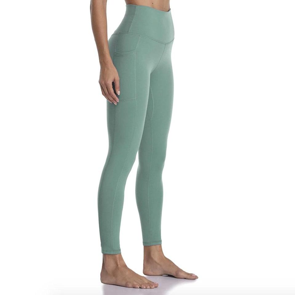 """If seafoam green isn't your thing, rest assured that these best-selling leggings (with 11,729 reviews and counting) come in a plethora of colors for every aesthetic. $29, Amazon. <a href=""""https://www.amazon.com/Colorfulkoala-Womens-Waisted-Leggings-Pockets/dp/B07ZHSNVPW/ref=sr_1_5"""" rel=""""nofollow noopener"""" target=""""_blank"""" data-ylk=""""slk:Get it now!"""" class=""""link rapid-noclick-resp"""">Get it now!</a>"""