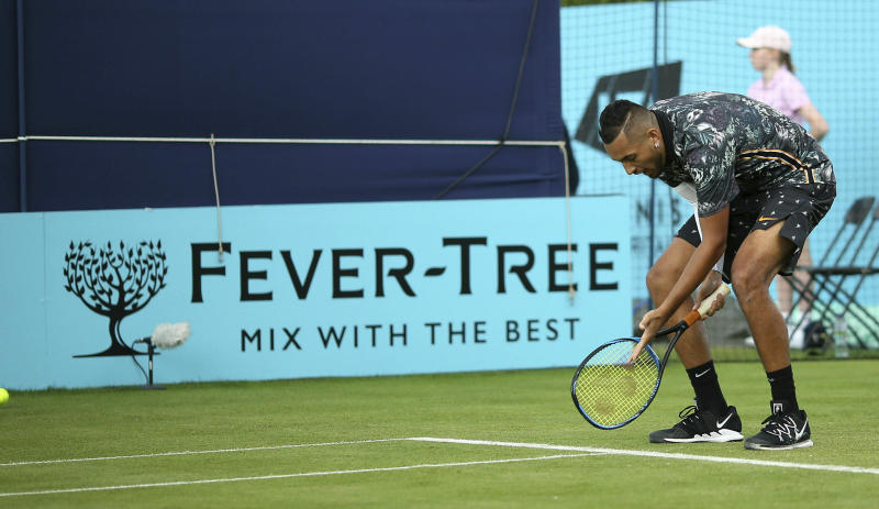 Kyrgios accuses officials of 'rigging' match at Queen's Club