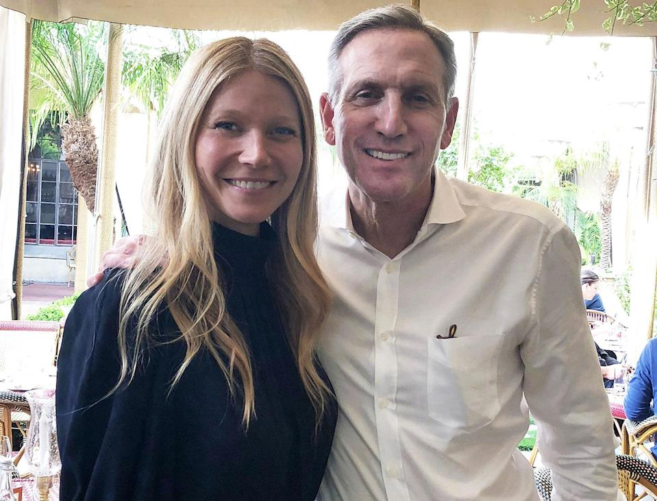 Gwyneth Paltrow and Howard Schultz (Photo: Goop.com)