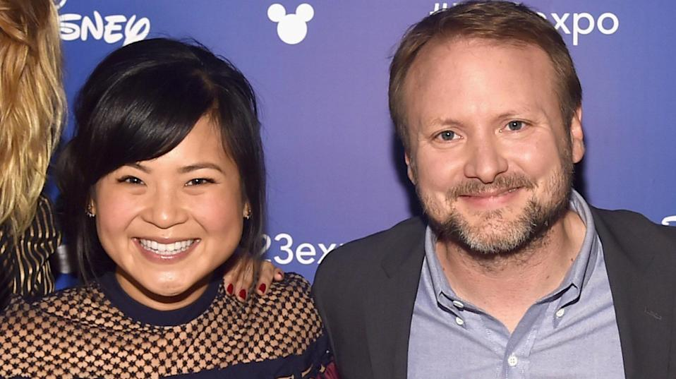 Kelly Marie Tran and Rian Johnson (Credit: Getty)