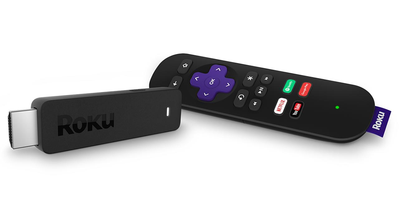"""<p>Cost: $49.99 </p><p>If you spend a lot of time in hotels, the <a rel=""""nofollow"""" href=""""https://www.roku.com/products/streaming-stick"""">Roku Streaming Stick</a> will be your new best friend. This portable streaming device has a quad core processor and can be plugged in the HDMI port on the back of most flatscreen TVs. You can watch Netflix, HBOGo, Hulu or any of your favorite apps while you're on the road. The stick comes with a remote, but if you leave it at home, simply download the Roku app and use your smartphone as a controller.</p><p></p>"""