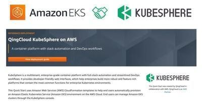 KubeSphere Expands Collaboration with Amazon Web Services to Further Accelerate the Cloud Native Technology Transformation (PRNewsfoto/KubeSphere)