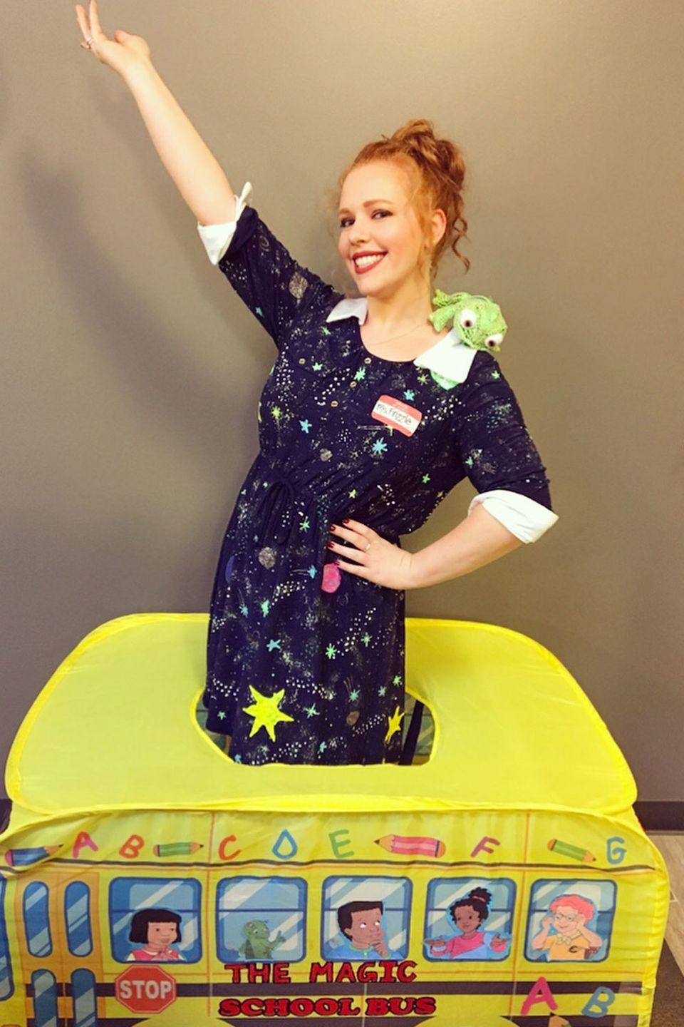 "<p>If you're going to dress as a teacher for Halloween, make that teacher Miss Frizzle from <a href=""https://www.goodhousekeeping.com/life/entertainment/news/a45991/magic-school-bus-trailer/"" rel=""nofollow noopener"" target=""_blank"" data-ylk=""slk:The Magic School Bus."" class=""link rapid-noclick-resp""><em>The Magic School Bus</em>.</a> It's a costume that's as easily recognizable <a href=""http://www.gingerandivory.com/2018/10/01/miss-frizzle-halloween-costume/"" rel=""nofollow noopener"" target=""_blank"" data-ylk=""slk:as it is to make"" class=""link rapid-noclick-resp"">as it is to make</a>. </p>"