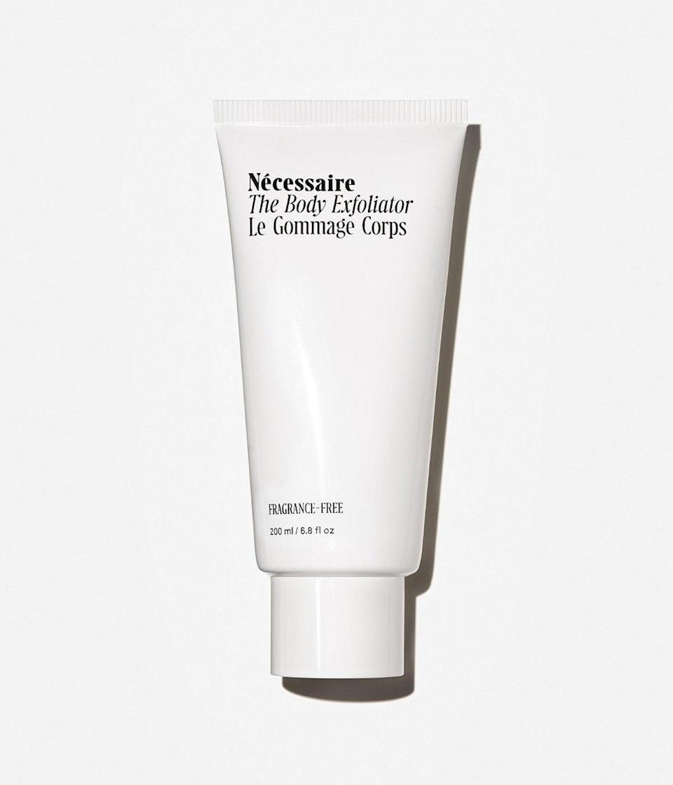 """<p>""""There are many reasons I was drawn to the <span>Nécessaire The Body Exfoliator</span> ($30). I loved that it came in a fragrance-free formula, because I find myself becoming more and more sensitive to fragrances over the years. The squeeze bottle seemed easy to use, compared to other body scrubs I've used in the past whose bottles create a mess in the shower. While some scrubs can feel harsh and actually have adverse effects, this one is great for people who are looking for a scrub that's soothing and doesn't feel like you're using sandpaper on your skin. I also really like the fact that the product doesn't leave a layer of oil on your skin afterward.""""- Nikita Charuza, editor, Fashion</p> <p>If you want to read more, here is the <a href=""""https://www.popsugar.com/beauty/necessaire-body-exfoliator-review-47970697"""" class=""""link rapid-noclick-resp"""" rel=""""nofollow noopener"""" target=""""_blank"""" data-ylk=""""slk:complete Nécessaire The Body Exfoliator review"""">complete Nécessaire The Body Exfoliator review</a>.</p>"""