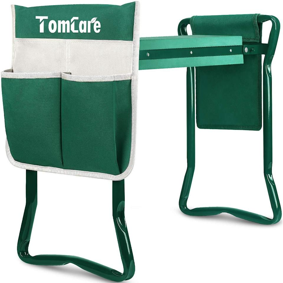"""<h3><h2>TomCare Foldable Garden Kneeler</h2></h3><br><strong>Under $100</strong><br>This nifty product is more than just a kneeler — it's also a seat that green-thumbed dads can use when weeding (and beyond).<br><br><em>Shop TomCare on <strong><a href=""""https://amzn.to/2Tcip24"""" rel=""""nofollow noopener"""" target=""""_blank"""" data-ylk=""""slk:Amazon"""" class=""""link rapid-noclick-resp"""">Amazon</a></strong></em><br><br><strong>TomCare</strong> Foldable Garden Kneeler, $, available at <a href=""""https://amzn.to/2XG6yrn"""" rel=""""nofollow noopener"""" target=""""_blank"""" data-ylk=""""slk:Amazon"""" class=""""link rapid-noclick-resp"""">Amazon</a>"""