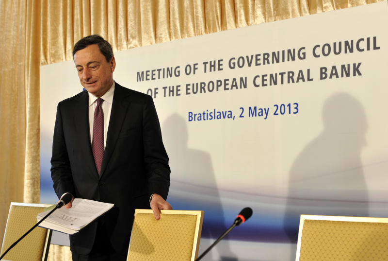 ECB cuts benchmark interest rate to 0.5 percent