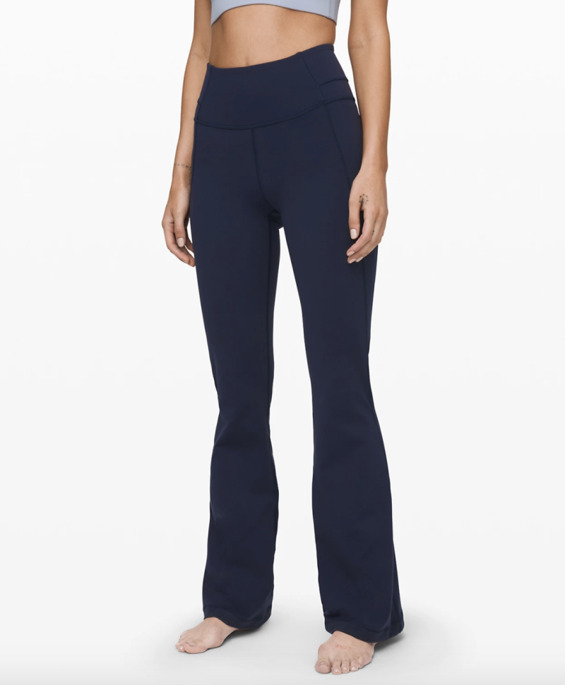 "Groove Pant Flare 32"" in true navy"