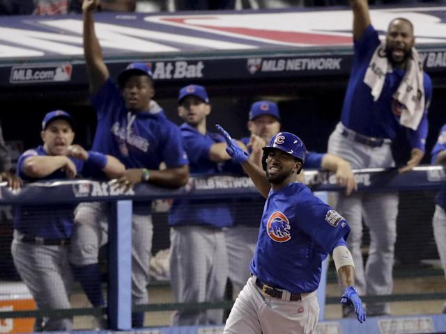 Dexter Fowler hit the first leadoff homer in a Game 7 in World Series history. (AP)