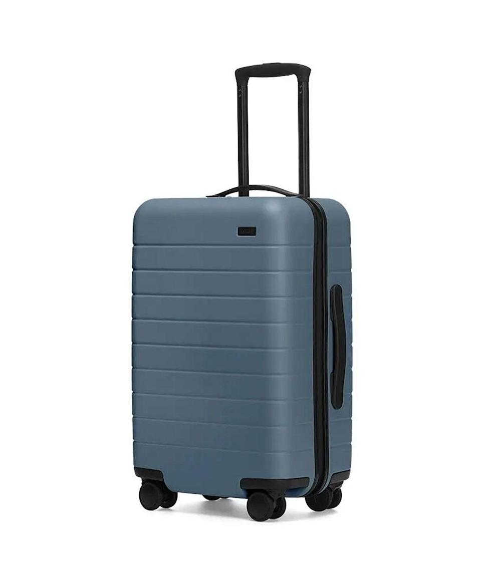 <p>The influencer-approved luggage company is a favorite for a reason. For starters, it's ridiculously sleek, comes in nine different color ways, and has 360-degree-spinning wheels to save you from that constant stop-adjust-go routine. You can also choose to get your bag with a removable battery, which will charge your phone up to four times.</p>