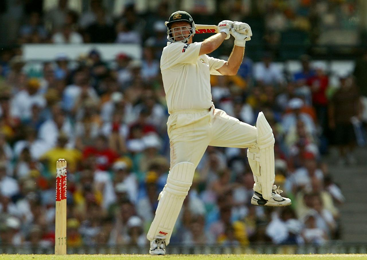 SYDNEY, AUSTRALIA - JANUARY 4: Steve Waugh of Australia in action during day three of the fourth Test between Australia and India at the SCG on January 4, 2004 in Sydney, Australia. (Photo by Nick Laham/Getty Images)
