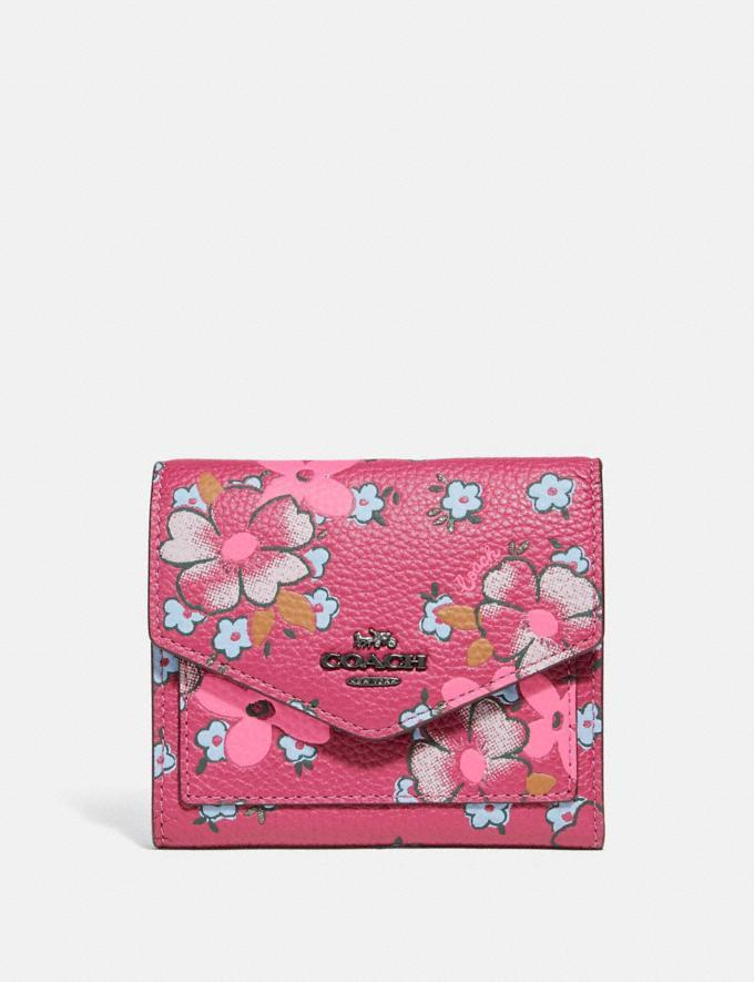 Small Wallet With Field Floral Print - Coach