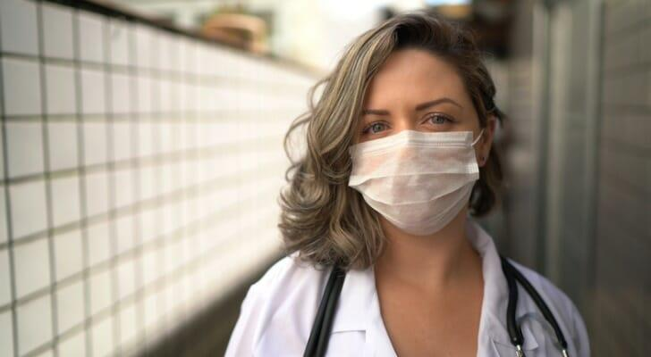 A physician in her clinic
