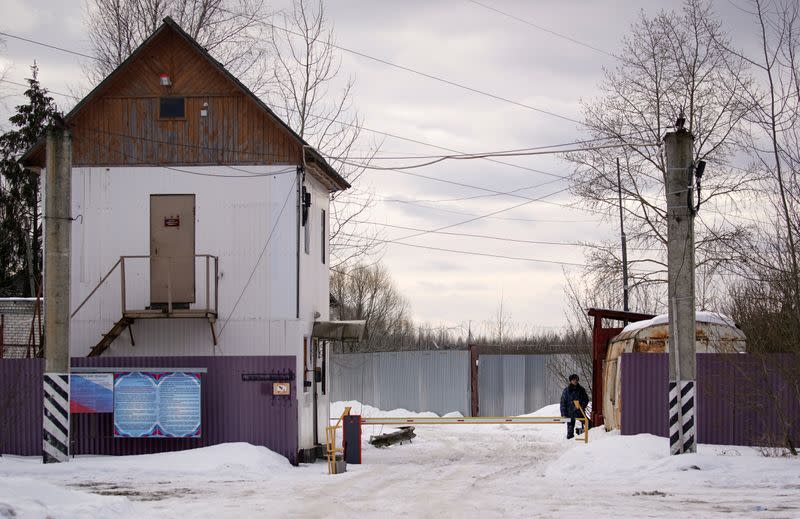 FILE PHOTO: FILE PHOTO: General view shows a gate of the Penal Colony No 2, where opposition leader Alexei Navalny supposedly serves his jail term, in the town of Pokrov