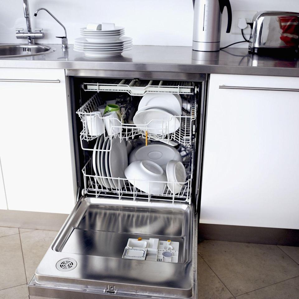 "<p>The same goes for your <a href=""https://www.goodhousekeeping.com/appliances/dishwasher-reviews/g1513/best-dishwasher-reviews/"" rel=""nofollow noopener"" target=""_blank"" data-ylk=""slk:dishwasher"" class=""link rapid-noclick-resp"">dishwasher</a>: Instead of using the heat dry function on your dishwasher, consider selecting an air-dry cycle to dry your dishes. This will <a href=""https://www.hunker.com/13407749/heat-dry-vs-air-dry-on-dishwasher"" rel=""nofollow noopener"" target=""_blank"" data-ylk=""slk:save about 15 percent"" class=""link rapid-noclick-resp"">save about 15 percent</a> of your dishwasher's energy use! If you don't have this option on your dishwasher, just crack open the door to let your dishes dry once your load has finished washing. </p>"